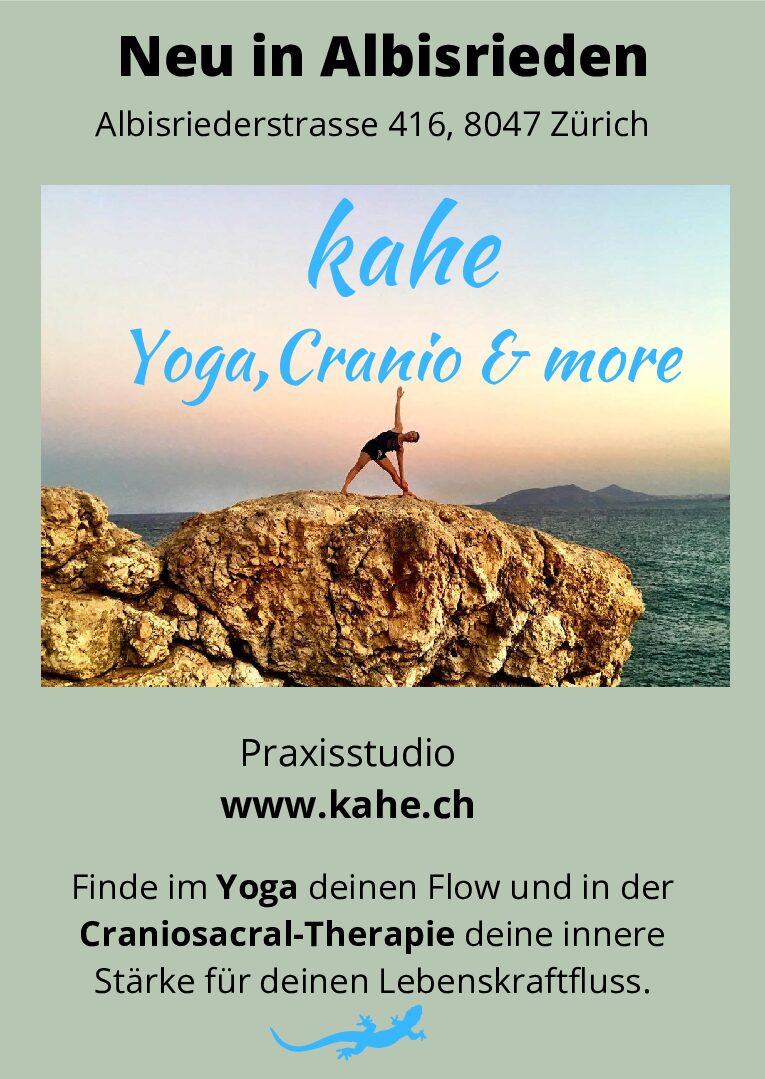 Yoga und Craniosacral-Therapie neu in Zürich-Albisrieden